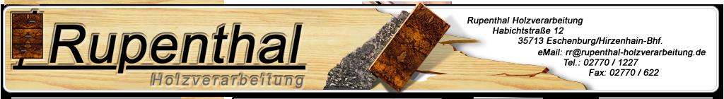 Rupenthal Holzverarbeitung